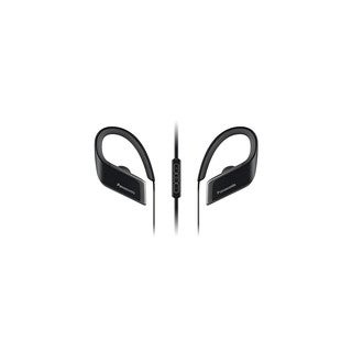 Panasonic Wings Wireless Bluetooth Sports Clips with Mic and Controller (Black)