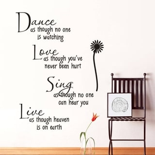 Dance As Though No One Is Watching Removable Vinyl Wall Decal Sticker