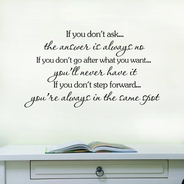 If You Don't Ask  Removable Vinyl Wall Decal Sticker