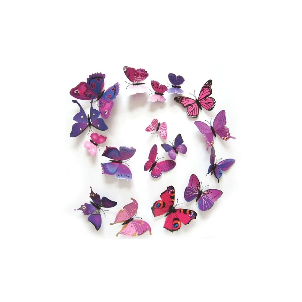 Stickers PVC DIY Home 3D 12Pcs Decal Wall Decor Butterfly Decoration Room Kid