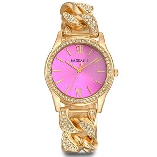 Women's Designer Inspired Twisted Metal Band CZ Boyfriend Watch