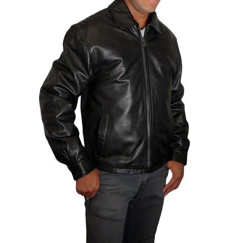 Knoles & Carter Black Lambskin Leather Zip-front Jacket