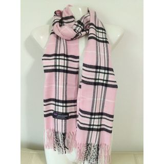 Deluxe Comfort Pink Cashmere-feel New England Plaid Scarf