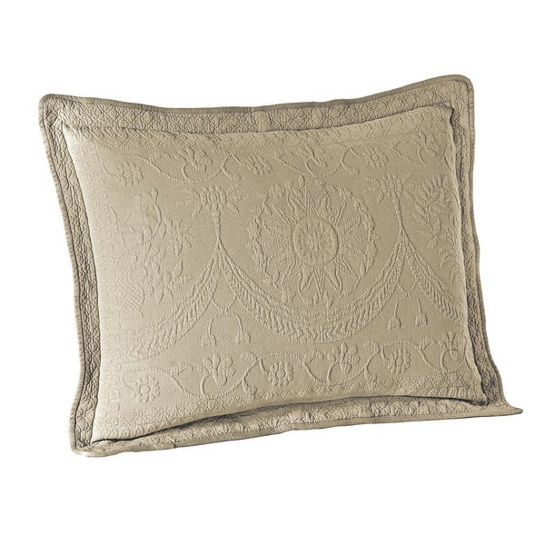 Historic Charleston King Charles Cotton Matelasse Sham
