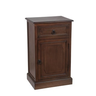 Privilege Aged Amber Wood 1-drawer 1-door Accent Table