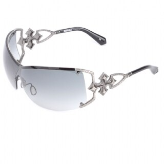 Affliction Unisex Bianca Gunmetal Metal and Plastic Sunglasses
