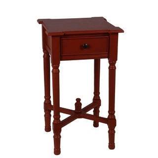 Privilege Terra Cotta Wood Single Drawer Accent Table