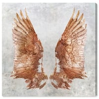 Oliver Gal 'Rose Gold Wings' Gallery Wrapped Canvas Art - rose gold