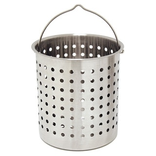Bayou Classic Stainless Steel 24-quart Perforated Strainer Basket
