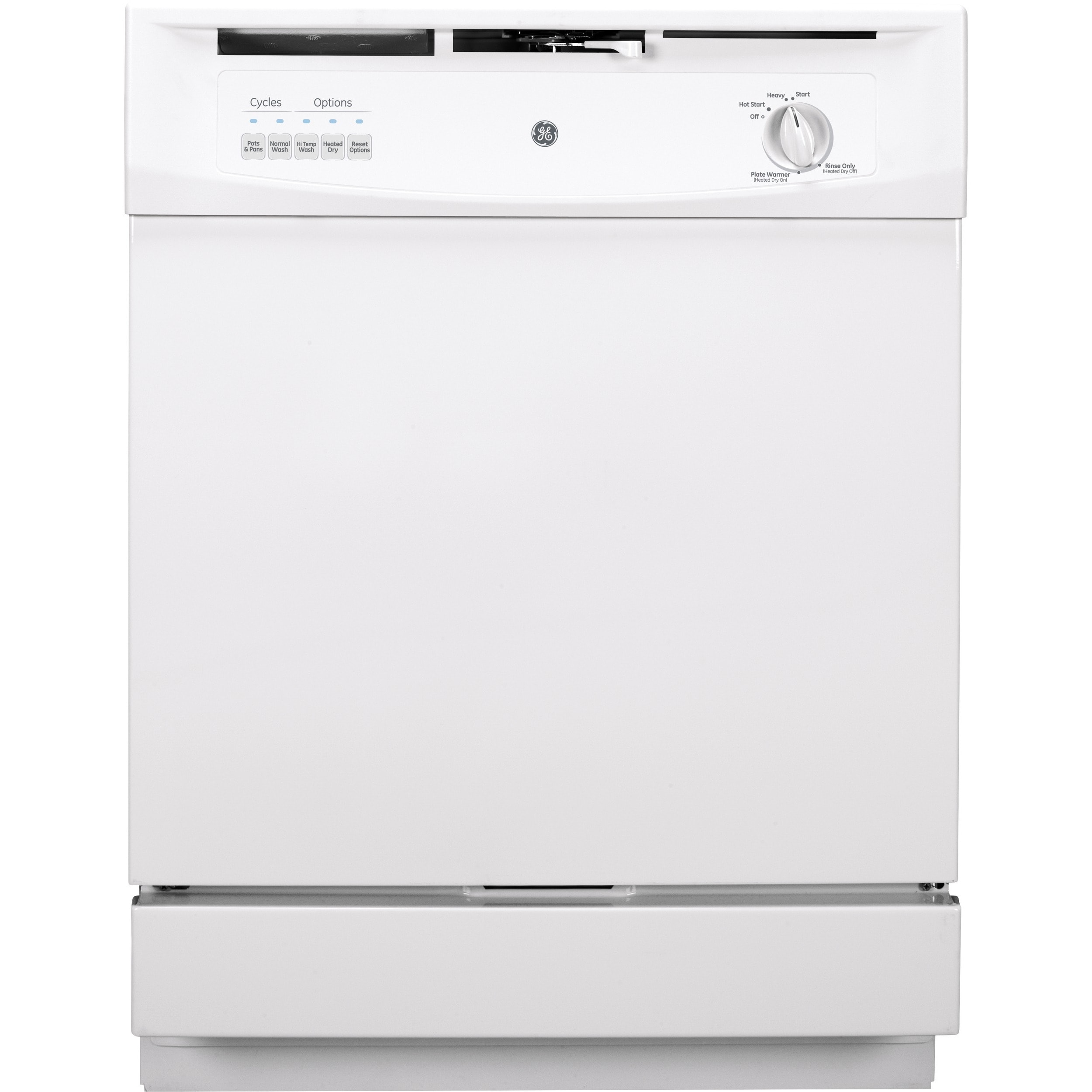 GE Built-In Dishwasher with Power Cord White