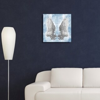 Oliver Gal My Sky Wings Canvas Art - Blue, Gray