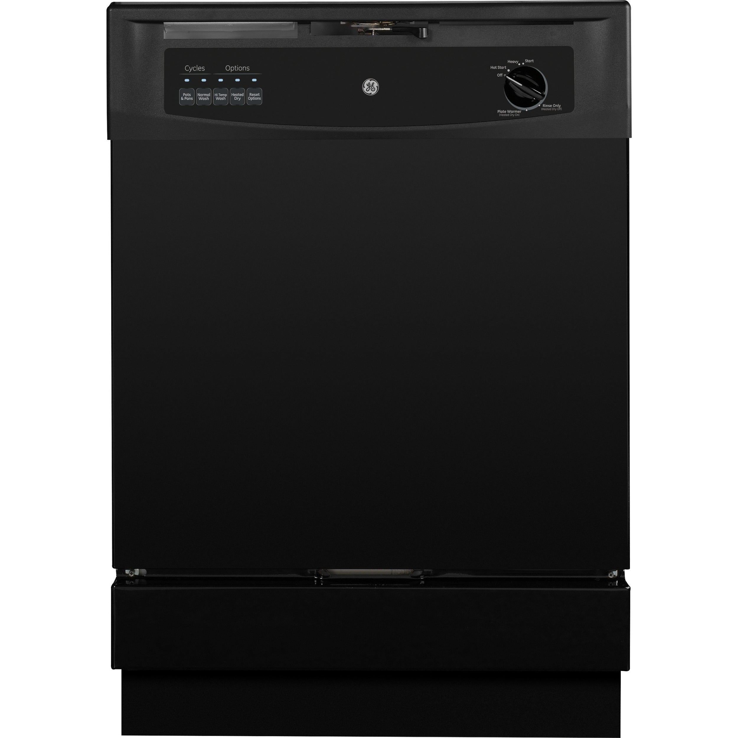 GE Built-In Dishwasher with Power Cord Black