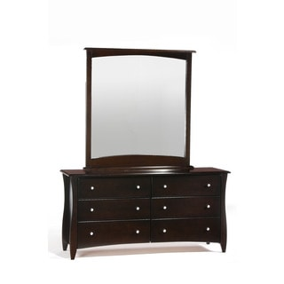 Clove Chocolate 6 Drawer Dresser with Mirror