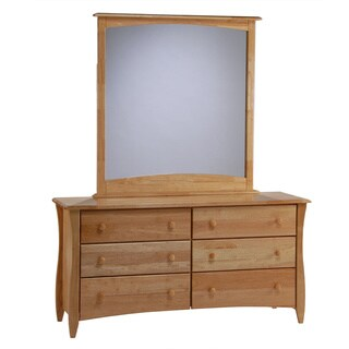 Clove Natural 6-Drawer Dresser with Mirror