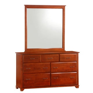 Juniper Cherry 7-Drawer Dresser with Mirror