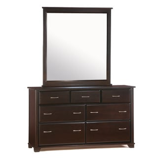 Juniper Chocolate 7 Drawer Dresser with Mirror