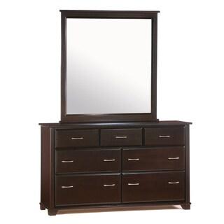 Juniper Chocolate 7 Drawer Dresser with Mirror
