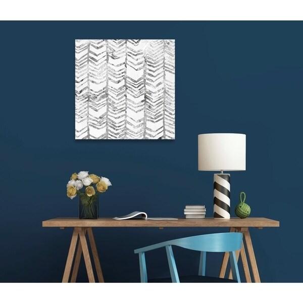 Shop Oliver Gal 'Season Glitter Silver' Abstract Wall Art ...