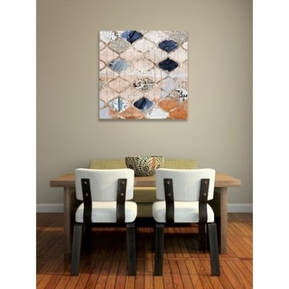 Link to Oliver Gal 'Modern Moroccan' Abstract Wall Art Canvas Print - Orange, Blue Similar Items in Vinyl Wall Art