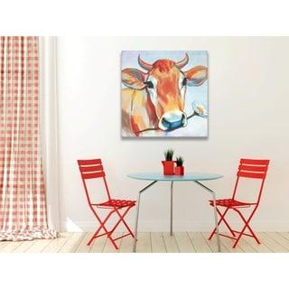 Happy Cow Canvas Art