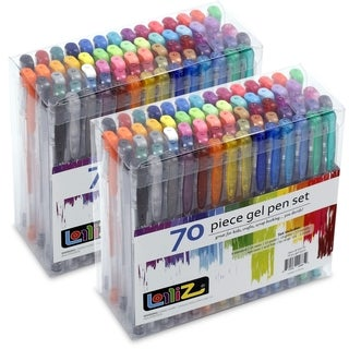 LolliZ 70-piece Assorted Gel Pens (Set of 2)