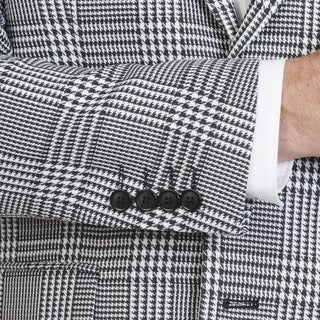 Blue Martini Men's Houndstooth Polyester and Rayon Sports Coat