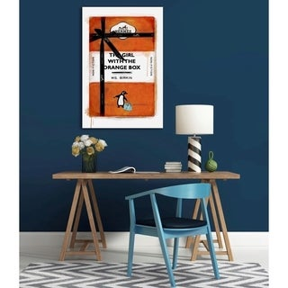 Oliver Gal The Girl with the Orange Box Canvas Art
