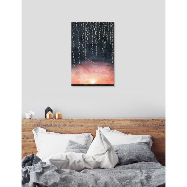 Oliver Gal Sunset Dreams Canvas Art - pink, gray