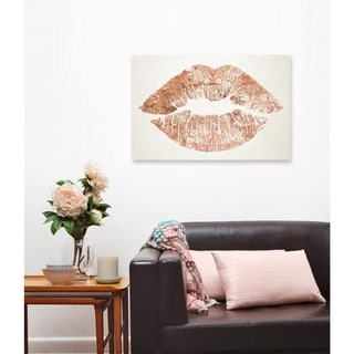 Oliver Gal Solid Kiss Copper Canvas Art