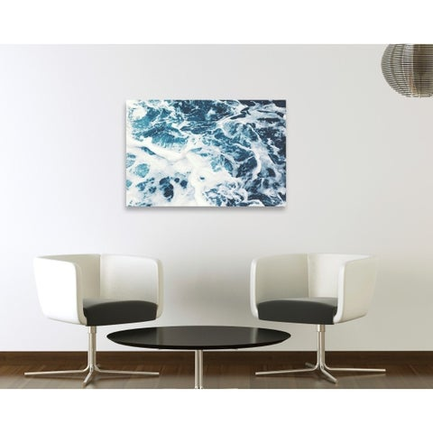 Oliver Gal Mykonos Water I Canvas Art - Blue