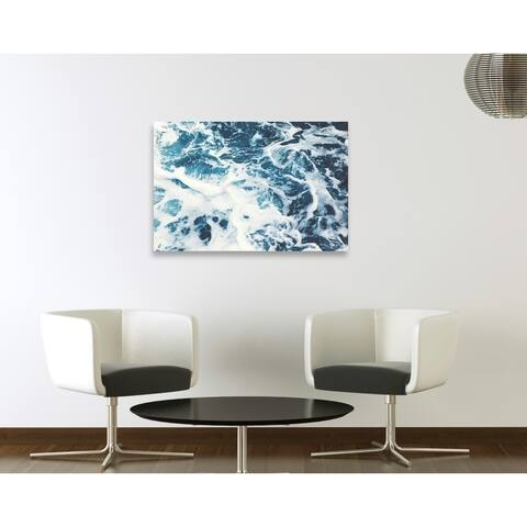 Oliver Gal 'Mykonos Water I' Nautical and Coastal Wall Art Canvas Print - Blue, White
