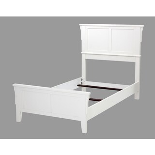 Home Styles Arts & Crafts White Twin Bed
