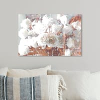 Oliver Gal 'Rose Gold Feast' Glam and Fashion Florals Canvas Art - rose gold, white