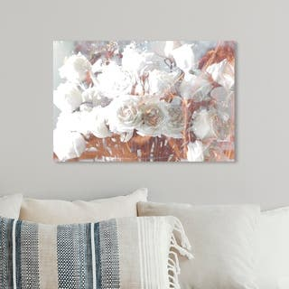 Oliver Gal 'Rose Gold Feast' Glam and Fashion Florals Gallery Wrapped Canvas Art