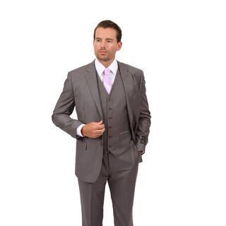 Demantie Men's Grey Classic Fit 3-Piece Suit|https://ak1.ostkcdn.com/images/products/13435521/P20127187.jpg?impolicy=medium
