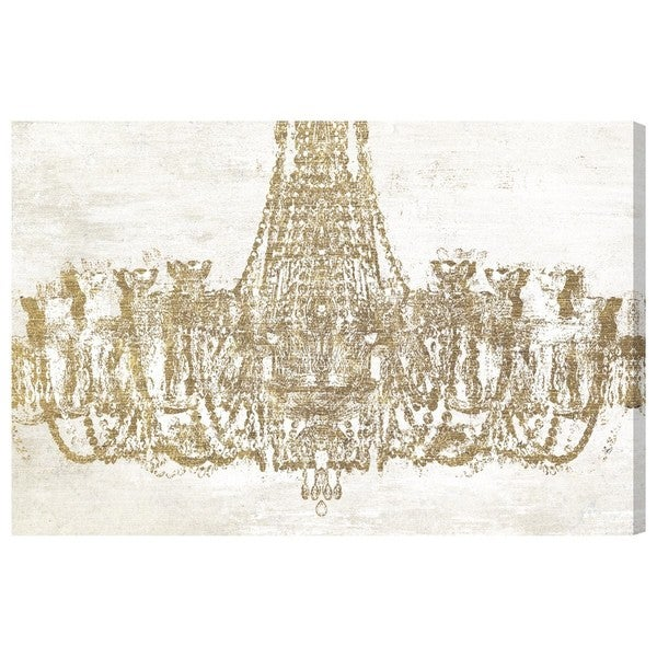 Oliver Gal Glam Chandelier Canvas Art Free Shipping Today – Chandelier Canvas Art