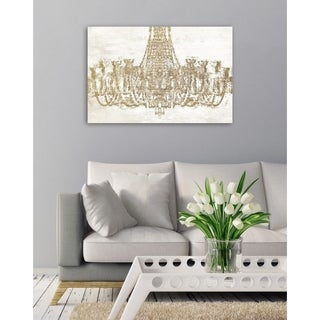 Oliver Gal Glam Chandelier Canvas Art