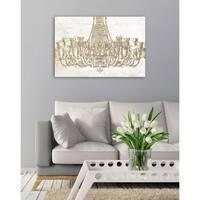 Oliver Gal Glam Chandelier Fashion Canvas Art - gold, white
