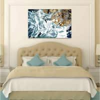 Oliver Gal 'Dos Gardenias Light Turquoise' Blue Fashion Florals Gallery Wrapped Canvas Art
