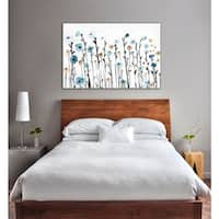 Oliver Gal Beautiful Growth Canvas Art - Blue, Gray