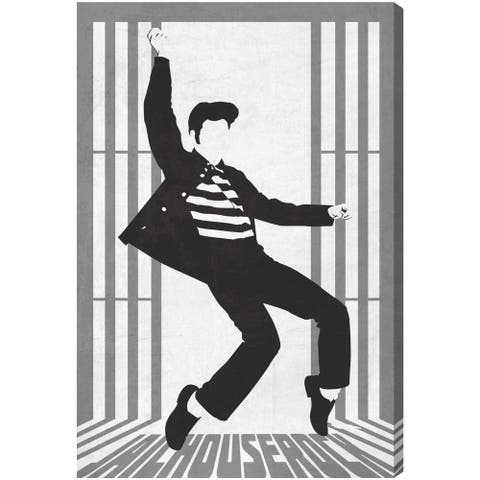 Oliver Gal 'Jail Rock' Music and Dance Wall Art Canvas Print - Black, White