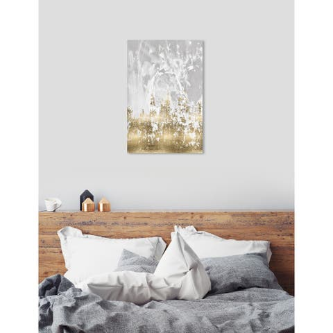 Oliver Gal 'Our Moment' Abstract Wall Art Canvas Print - Gold, Gray