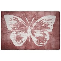 Oliver Gal 'Marsala Butterfly'  Canvas Art