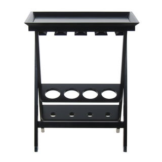 Black Wood Folding Wine Storage Table