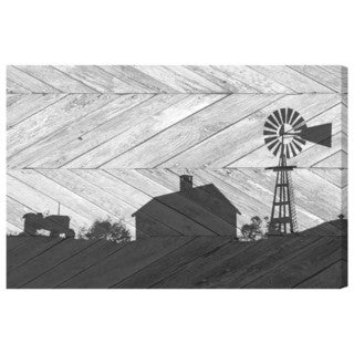 Oliver Gal 'Country Farm Chevron' Canvas Art