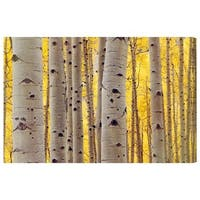 Oliver Gal 'Aspen Yellow'  Canvas Art