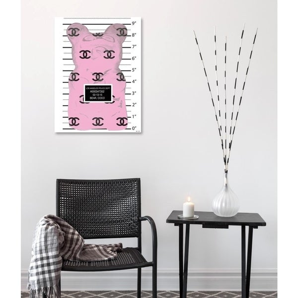 Oliver Gal 'Pink Gummy Rev by Matt Bentley Hoover' Fashion Wall Art Print on Premium Canvas - Pink