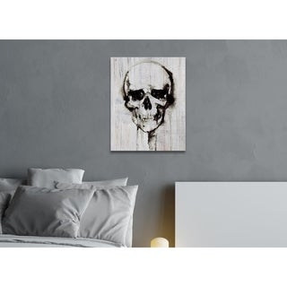 Hatcher and Ethan Watercolor Skull Canvas Art