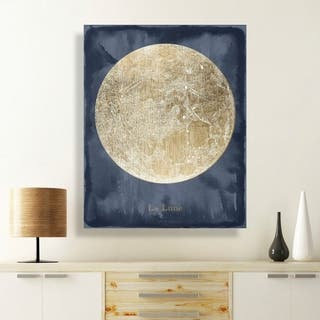 Oliver Gal 'La Luna' Astronomy and Space Wall Art Canvas Print - Gold, Blue