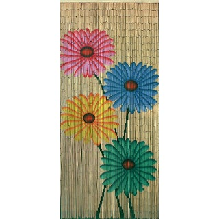 Handmade Quad Flowers Curtain (Vietnam)
